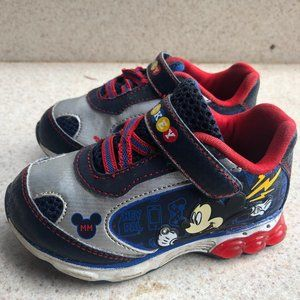 Mickey Mouse Velcro Closure Toddler Sneakers SZ. 7